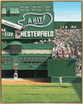 Baseball Collectibles:Others, 1993 Willie Mays 'The Catch' Original Painting by Bill Purdom. ...