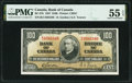 World Currency, Canada Bank of Canada $100 2.1.1937 BC-27b PMG About Uncirculated 55 EPQ.. ...