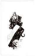 Original Comic Art:Panel Pages, Mike Mignola - Hellboy Illustration Original Art (1999)....