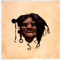 Gerald Brom - Shrunken Head Painting Original Art (c. 1990s)