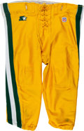 Football Collectibles:Uniforms, 1997 Reggie White Game Worn Green Bay Packers Pants - Photo Matched to Super Bowl XXXI! (Multiple Repairs)...