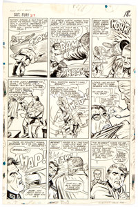 Dick Ayers Sgt. Fury and His Howling Commandos #27 Story Page 14 Original Art (Marvel, 1966)