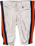 """Football Collectibles:Uniforms, Circa 1991 William """"The Refrigerator"""" Perry Game Worn Chicago Bears Pants and Signed Photograph...."""