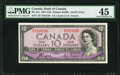 "World Currency, Canada Bank of Canada $10 1954 BC-32a ""Devil's Face"" PMG Choice Extremely Fine 45.. ..."
