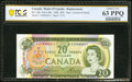 World Currency, Canada Bank of Canada $20 1969 BC-50bA Replacement PCGS Banknote Choice Unc 63 PPQ.. ...