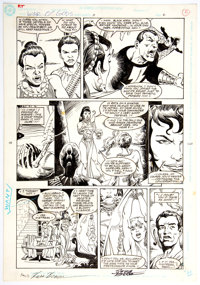 George Perez and Russell Braun War of the Gods #3 Story Page 2 Original Art Panel Page (DC Comics, 1991)