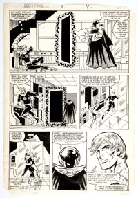 Ron Wilson and Joe Sinnott QuestProbe #3 Story Page 7 Human Torch Original Art (Marvel, 1985)