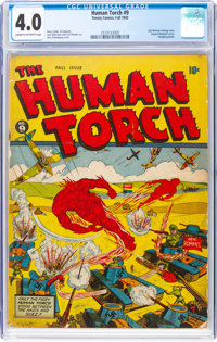 The Human Torch #9 (Timely, 1942) CGC VG 4.0 Cream to off-white pages