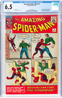 The Amazing Spider-Man #4 (Marvel, 1963) CGC FN+ 6.5 White pages