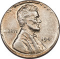 Errors, 1943 1C Lincoln Cent -- Struck on a Silver 10C Planchet -- AU58 PCGS. 2.5 grams. The strike is almost perfectly centered on...