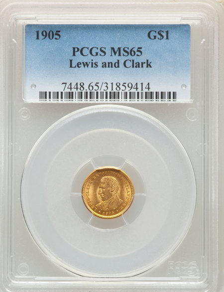 1905 G$1 Lewis and Clark, MS 65 PCGS