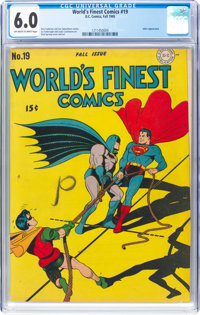 World's Finest Comics #19 (DC, 1945) CGC FN 6.0 Off-white to white pages