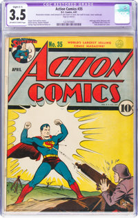 Action Comics #35 (DC, 1941) CGC Apparent VG- 3.5 Slight (C-1) Off-white to white pages