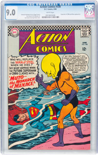 Action Comics #338 (DC, 1966) CGC VF/NM 9.0 White pages