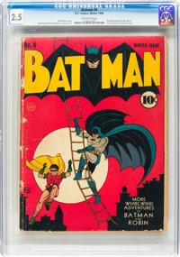 Batman #4 (DC, 1940) CGC GD+ 2.5 Off-white pages