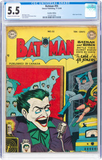 Batman #55 Canadian Edition (Simcoe Publishing, 1949) CGC FN- 5.5 Cream to off-white pages