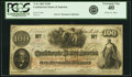Confederate Notes:1862 Issues, T41 $100 1862 PF-25 Cr. 318A PCGS Extremely Fine 40.. ...