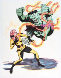 Steve Rude - The Hulk and Crystal of the Inhumans Illustration Original Art (2009)