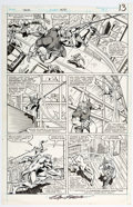 Original Comic Art:Panel Pages, Ron Frenz and Brett Breeding Thor #391 Story Page 9 Original Art (Marvel, 1988)....