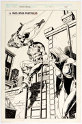 Original Comic Art:Panel Pages, Paul Ryan Marvel Fanfare #52 Portfolio Page 31 Captain America Original Art (Marvel)....