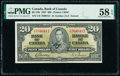 World Currency, Canada Bank of Canada $20 2.1.1937 BC-25b PMG Choice About Unc 58 EPQ.. ...