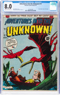 Golden Age (1938-1955):Horror, Adventures Into The Unknown #17 (ACG, 1951) CGC VF 8.0 Cream to off-white pages....