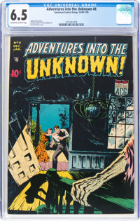 Adventures Into The Unknown #8 (ACG, 1949) CGC FN+ 6.5 Off-white to white pages