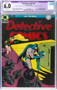 Detective Comics #83 (DC, 1944) CGC Apparent FN 6.0 White pages