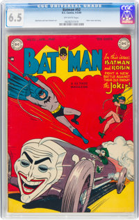 Batman #52 (DC, 1949) CGC FN+ 6.5 Off-white pages