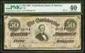 Confederate Notes:1864 Issues, T66 $50 1864 PF-13 Cr. 502 PMG Extremely Fine 40.. ...