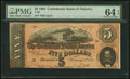 Confederate Notes:1864 Issues, T69 $5 1864 PF-10 Cr. 564 PMG Choice Uncirculated 64 EPQ.. ...
