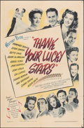 """Movie Posters:Musical, Thank Your Lucky Stars (Warner Bros., 1943). Folded, Fine. One Sheet (27"""" X 41""""). Musical.. ..."""