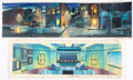 Animation Art:Painted cel background, G.I. Joe: A Real American Hero Color Keys Background Paintings Group of 5 (Marvel/Sunbow, 1985-86).... (Total: 5 Original Art)
