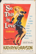 "Movie Posters:Musical, So This Is Love (Warner Bros., 1953). Folded, Fine/Very Fine. One Sheet (27"" X 41"") & Lobby Card Set of 8 (11"" X 24""). Music... (Total: 9 Items)"