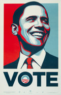 Prints & Multiples, Shepard Fairey (b. 1970). Vote, c. 2008. Offset lithograph in colors on wove paper. 38-1/2 x 25 inches (97.8 x 63.5 cm) ...