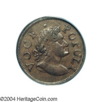 1760 1/2P Hibernia-Voce Populi Halfpenny MS64 Brown PCGS. Breen-223. Nelson-Vlack 9. Zelinka 6-C. Mature Bust. While the...