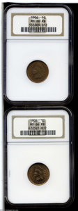 Indian Cents: , 1906 1C MS66 Red and Brown NGC, two pieces, one piece has ... (2 Coins)