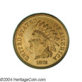 Proof Indian Cents: , 1873 1C Closed 3 PR65 Red PCGS. The date has the Closed 3 ...