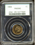 Proof Indian Cents: , 1884 1C PR65 Red PCGS. Fully struck and impeccably ...