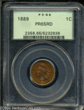 Proof Indian Cents: , 1889 1C PR65 Red PCGS. Well struck with rich variegated ...