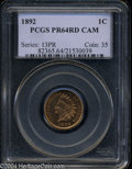 Proof Indian Cents: , 1892 1C PR64 Red Cameo PCGS. The 1892 is a relatively ...
