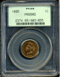Proof Indian Cents: , 1895 1C PR65 Red PCGS. Snow-PR1. The lower half of all ...