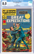 Golden Age (1938-1955):Classics Illustrated, Classics Illustrated #43 HRN 62 Great Expectations (Gilberton, 1949) CGC VF 8.0 Off-white pages....