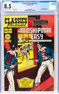 Golden Age (1938-1955):Classics Illustrated, Classics Illustrated #74 Mr. Midshipman Easy First Edition (Gilberton, 1950) CGC VF+ 8.5 Off-white to white pages....