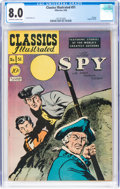 Golden Age (1938-1955):Classics Illustrated, Classics Illustrated #51 The Spy First Edition (Gilberton, 1948) CGC VF 8.0 Off-white to white pages....