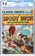 Golden Age (1938-1955):Classics Illustrated, Classic Comics #5 HRN 21 Moby Dick (Gilberton, 1944) CGC NM 9.4 Off-white to white pages....