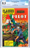 Golden Age (1938-1955):Classics Illustrated, Classics Illustrated #70 The Pilot - First Edition (Gilberton, 1950) CGC VF+ 8.5 Off-white to white pages....