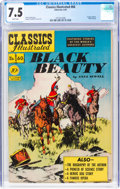Golden Age (1938-1955):Classics Illustrated, Classics Illustrated #60 Black Beauty - First Edition (Gilberton, 1949) CGC VF- 7.5 White pages....