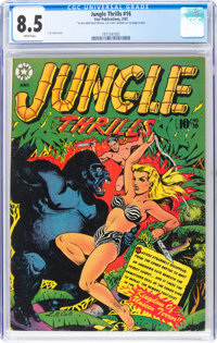 Jungle Thrills #16 (Star Publications, 1952) CGC VF+ 8.5 White pages