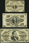 Fractional Currency:Third Issue, Trio of Fresh Third Issue Fractionals.. ... (Total: 3 notes)